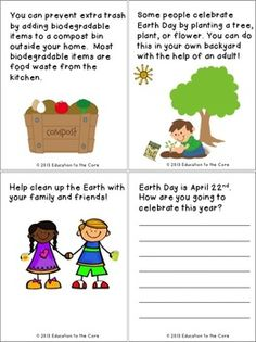 PROTECT THE EARTH: A FREE EARTH DAY MINI-BOOK / CLOSE READ - TeachersPayTeachers.com