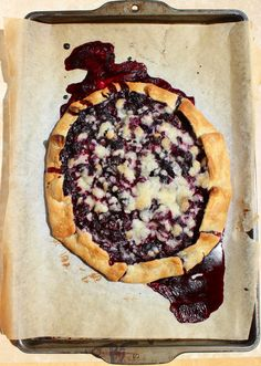 Simple Blueberry Crostata I made this tonight.  Extremely easy and quick to make.  Very tasty.  Looks nice too.