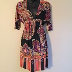 Dress Cristina love BOHO dress. Beautiful bright color combinations. Cristina love Dresses Midi
