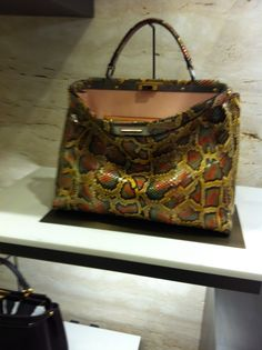 The Fendi Peekaboo in python. As seen at Harrods. amazing colours.