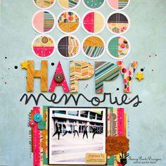 #Papercraft #scrapbook #layout.  Nicole Nowosad: new Fancy Pants Flutter!