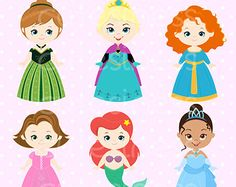 Fairy Tale Baby Cute Digital Clipart Princess by JWIllustrations