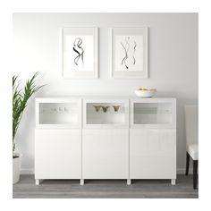 BESTÅ Mobile con ante IKEA Puoi scegliere di usare la funzione di chiusura ammortizzata o la funzione di apertura a pressione.