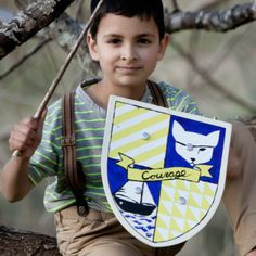Seedling Design your own Wooden Shield - Good Things for Kids