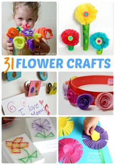 31 Fun and Creative Flower Crafts for Kids - From Toddler to Preschool and Beyond - Perfect for Spring, Too! - at B-Inspired Mama