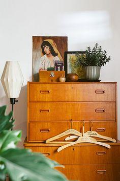 gorgeously styled vintage wooden dresser