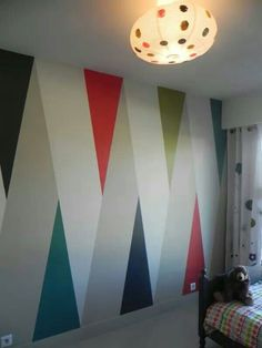 paint Bedroom paint ideas accent wall kids 51 ideas Understanding A Childs Fears And Creative Wall Painting, Room Wall Painting, Creative Walls, Wall Painting Design, Wall Paintings, Faux Painting, Creative Kids, Wall Paint Patterns, Painting Patterns