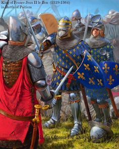 John II and his younger son Philip at the battle of Poitiers (1456).