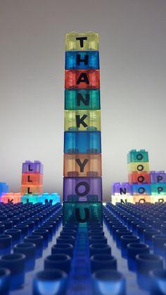 DIY alphabet bricks for light table