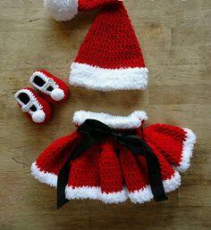 conjunto menina figurino Natal Newborn 3 peças tamanho RN a 3 mês