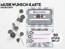 50 MUSIK-WUNSCH KARTEN für Eure Party