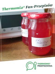 Sok agrestowy jest to przepis stworzony przez użytkownika Agnieszkant. Ten przepis na Thermomix<sup>®</sup> znajdziesz w kategorii Napoje na www.przepisownia.pl, społeczności Thermomix<sup>®</sup>. Ketchup, Hot Sauce Bottles, Food And Drink, Drinks, Thermomix, Drinking, Beverages, Drink, Beverage