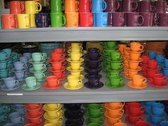 I love Fiestaware! And yes, I use mine. I love setting a table with Fiesta. Fiesta Kitchen, Kitchen Dishes, Kitchen Decor, Fiesta Colors, Thats The Way, Made In America, Decoration, All The Colors, Colors