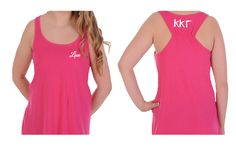 """Kappa Kappa Gamma Tank Top with Greek Letters on the back and """"Love"""" on the front. You will love this sorority tank. Available in X-small. #kappakappagamma #kappa #tanktop #greek #sorority #greekgift #summer #mdsororitygifts"""