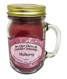 Mulberry Scented 13 Ounce Mason Jar Candle By Our Own Candle Company *** Want to know more, click on the image.