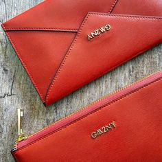 Gorgeous red envelope wallets. Red is always a statement must have #martiportfolio #gm2ny