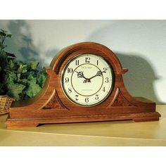 English Tambour Mantel Clock