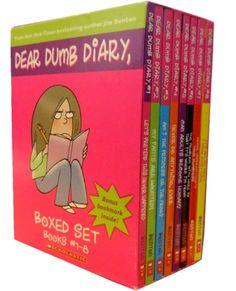 Dear Dumb Diary Collection of 8 Books by Jim Benton  #Diary #DumbDiary #DearDiary #Book #ChildrensBook   http://www.snazal.com/dear-dumb-diary-jim-benton-8-books-collection-box-set--DEALMAN-U5-Dump-8bks.html