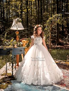 d43134694fce77 Magical forest - 2108 - Flower and communion dress Girls Easter Dresses,  Girls First Communion