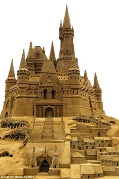 Intricate detailed sand castles