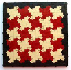 """""""Headlights,"""" Lego pattern by Katie Walker"""