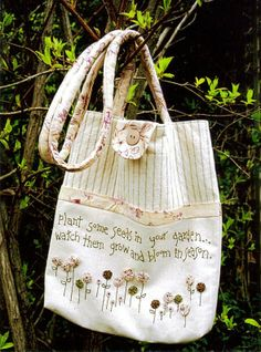 PLANT SOME SEEDS- Carry bag pattern