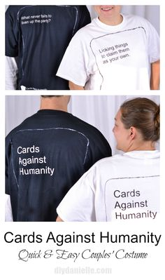 how to make a cards against humanity costume