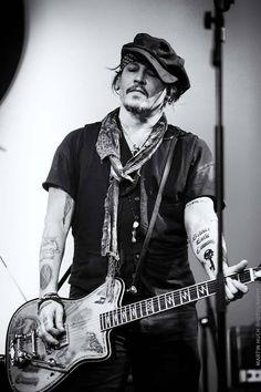 Johnny Depp rocking on guitar