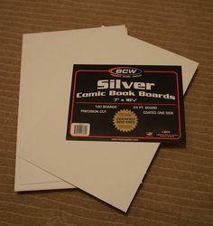 Use comic book boards for fabric organization -folding tutorial