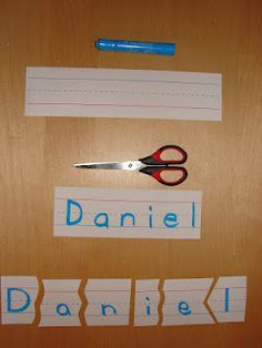 Name Puzzles. what a simple idea to keep kids busy and teach at the same time!