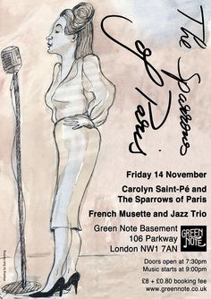 The Sparrows of Paris at The Green Note Friday 14 November 2014.  www.greennote.co.uk
