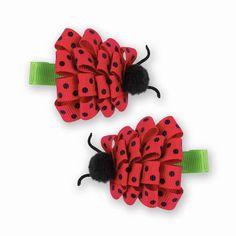 Ladybug Barrette Set