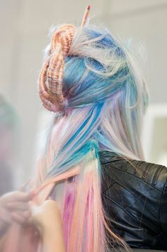 Pastel colors and natural, windswept style for Urban Native, 2014 trend. Interpreted by Hester Wernert-Rijn #TrendVision