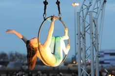 Aerialists display at Littlehaven opening day South Shields, South Tyneside.