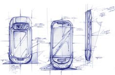 Nokia design story on Behance Pen Sketch, Drawing Sketches, Drawings, Sketching, Orthographic Drawing, Tech Humor, Phone Background Patterns, Phone Logo, Industrial Design Sketch