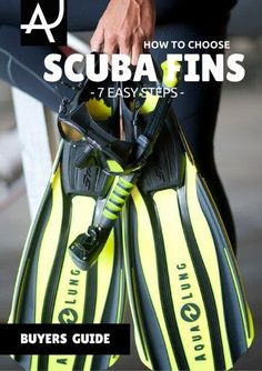 Learn how to choose scuba diving fins with this easy to read guide. Follow these 7 steps to select the dive fins that fit you best.