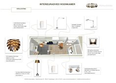 Verlichtingsplan woonkamer Interior Design Presentation, Presentation Boards, Interior Blogs, Floor Plans, Study, Cabinet, Lighting, Arquitetura, Ideas