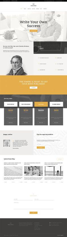 Publishing Company Site #Wordpress #template. #themes #business #responsive #Wordpressthemes