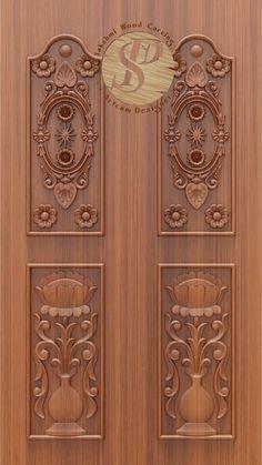 Single Door Design, Wooden Front Door Design, Double Door Design, Door Gate Design, Wooden Front Doors, Wooden Door Hangers, Door Entryway, Entry Doors, Pop Ceiling Design