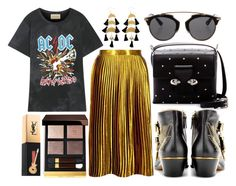 """""""street style"""" by sisaez ❤ liked on Polyvore featuring Gucci, Yves Saint Laurent, Tom Ford, Boohoo, Chloé, Alexander McQueen and Christian Dior"""