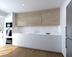 Kitchen Room Design, Modern Kitchen Design, Home Decor Kitchen, Kitchen Interior, Kitchen Walls, Kitchen Cabinets, Minimal Kitchen, Küchen Design, Luxury Kitchens