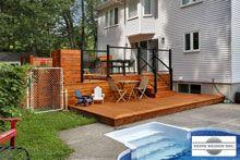 Patio avec piscine hors terre par patio design inc patio pinterest patio design and - Amenagement piscine hors terre ...