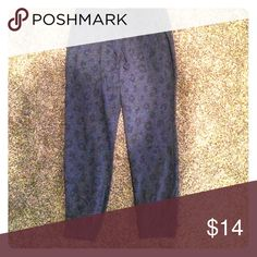Sweatpants Blue with a darker blue leopard print Old Navy Pants