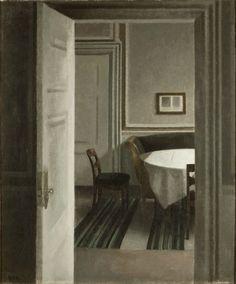 Vilhelm Hammershoi, Interior, Strandgrade 30, oil on canvas, 1904