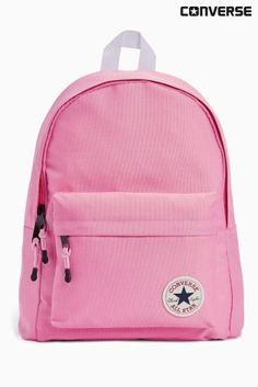 Stand out in the playground with this pink converse backpack.