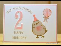 Robin Chick Birthday Card - JanB UK Stampin' Up! Demonstrator Independent - YouTube