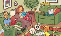 Can You Find The Six Words Hidden In This Family Drawing Puzzle?