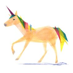 Inez Unicorn  Animal Art Print by TinyFawn on Etsy, $18.00