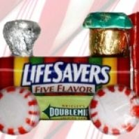 Made these as party favors at Christmas, so easy & kids love them. You can use super cheap candy around the LifeSaver roll.