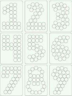 """So kann man z.B. aus Cupcakes oder kleinen runden Lakritzen/Smarties die Zahlen """"bauen"""""""